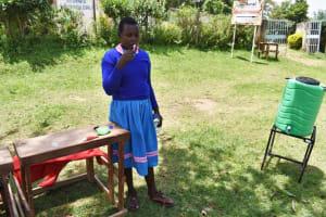 The Water Project: St. Joakim Buyangu Primary School -  Brushing Teeth