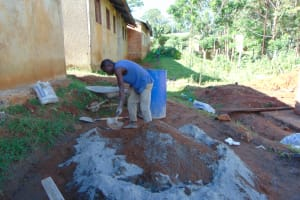 The Water Project: St. Joakim Buyangu Primary School -  Cement Works