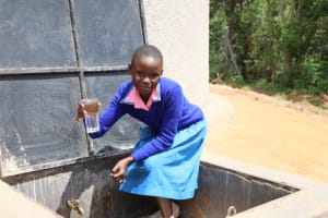 The Water Project: St. Joakim Buyangu Primary School -  Collecting Water At The Tank