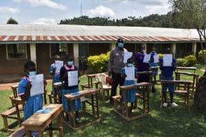The Water Project: St. Joakim Buyangu Primary School -  Covid Sanitation