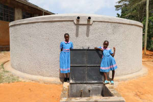 The Water Project: St. Joakim Buyangu Primary School -  Posing At The Complete Tank