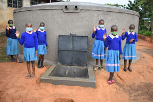 The Water Project: St. Joakim Buyangu Primary School -  Posing By The Tank