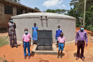 The Water Project: St. Joakim Buyangu Primary School -  Posing By The Weater Tank
