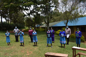 The Water Project: St. Joakim Buyangu Primary School -  Posing For A Photo After Training