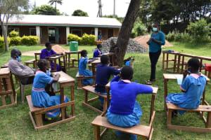 The Water Project: St. Joakim Buyangu Primary School -  Training In Progress