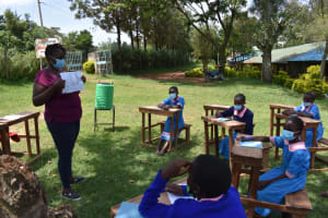The Water Project: St. Joakim Buyangu Primary School -  Training In Session