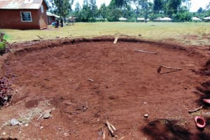 The Water Project: Kapkeruge Primary School -  Site Excavation For Tank Construction