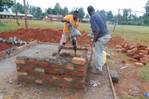 The Water Project: Kapkeruge Primary School -  Vip Latrine Wall Construction