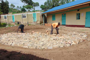 The Water Project: Mwembe Primary School -  Hardcore Reinforcement
