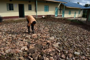 The Water Project: Mwembe Primary School -  Brc Compacting Hardcore