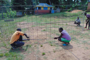 The Water Project: Mwembe Primary School -  Wire Wall Reinforcement