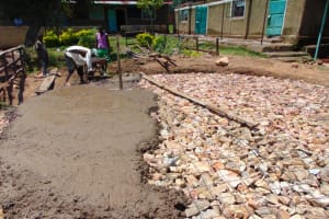 The Water Project: Mwembe Primary School -  Concrete Placement