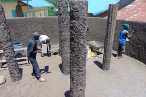The Water Project: Mwembe Primary School -  Tank Plaster Works