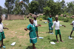 The Water Project: Mwembe Primary School -  Airdrying Of Hands