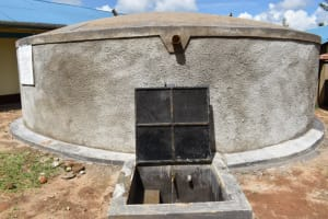 The Water Project: Mwembe Primary School -  Complete Tank