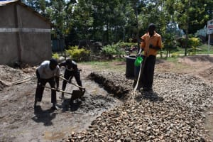 The Water Project: Mwembe Primary School -  Concrete Work