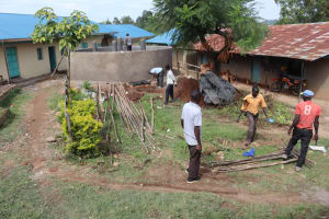 The Water Project: Mwembe Primary School -  Construction Site