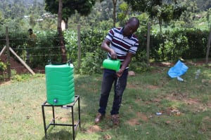 The Water Project: Mwembe Primary School -  Demonstrating Hand Washing