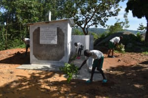 The Water Project: Mwembe Primary School -  Environmental Cleaning