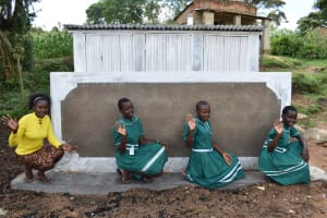 The Water Project: Mwembe Primary School -  Girls At The Latrine