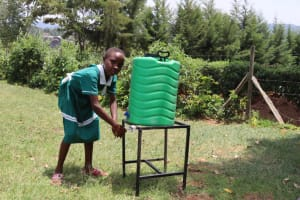 The Water Project: Mwembe Primary School -  Hand Washing Station