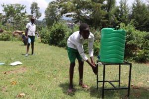 The Water Project: Mwembe Primary School -  Handwashing Demonstration