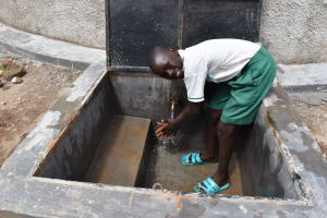 The Water Project: Mwembe Primary School -  Hilton Washing Hands