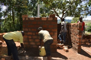 The Water Project: Mwembe Primary School -  Latrine Construction