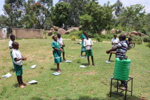 The Water Project: Mwembe Primary School -  Proper Hand Washing