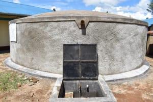 The Water Project: Mwembe Primary School -  Rain Tank At School