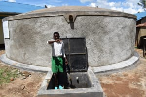 The Water Project: Mwembe Primary School -  Tank At School
