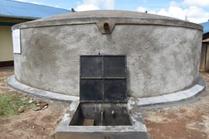 The Water Project: Mwembe Primary School -  Water Flowing