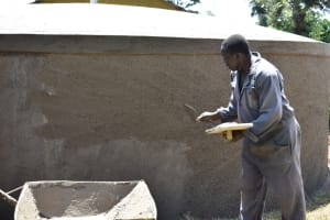 The Water Project: Itieng'ere Primary School -  Rough Cast