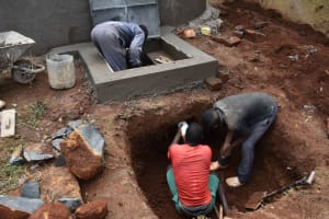 The Water Project: Itieng'ere Primary School -  Tap And Soak Pit