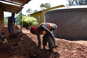 The Water Project: Itieng'ere Primary School -  Site Clearence