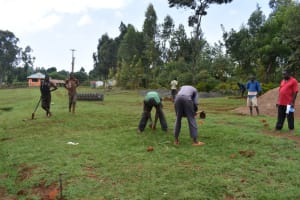 The Water Project: Itieng'ere Primary School -  Ground Measurements