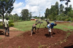 The Water Project: Itieng'ere Primary School -  Excavation