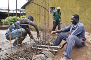 The Water Project: Itieng'ere Primary School -  Building Walls