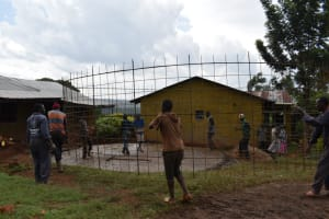 The Water Project: Itieng'ere Primary School -  Brc Wall Setting