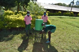 The Water Project: Itieng'ere Primary School -  Children Handwashing