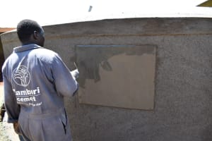 The Water Project: Itieng'ere Primary School -  Crafting The Plaque