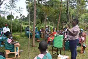 The Water Project: Itieng'ere Primary School -  Demonstrating Dental Hygiene