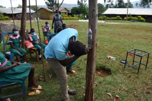 The Water Project: Itieng'ere Primary School -  Making A Leaky Tin