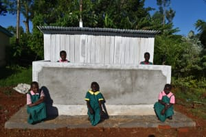 The Water Project: Itieng'ere Primary School -  Pupils At Latrine