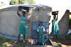 The Water Project: Itieng'ere Primary School -  Pupils Fetching Water