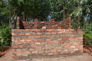 The Water Project: Itieng'ere Primary School -  Brick Work Latrine