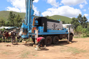 The Water Project: Muriola Primary School -  Rig Positioning