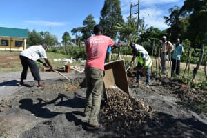 The Water Project: Muriola Primary School -  Preparation For Pad Construction