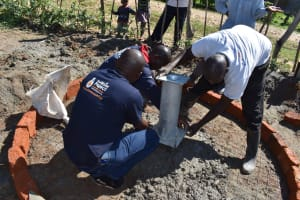 The Water Project: Muriola Primary School -  Pump Stand Placement