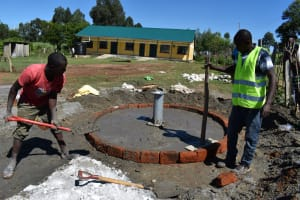 The Water Project: Muriola Primary School -  Pad Concrete Works